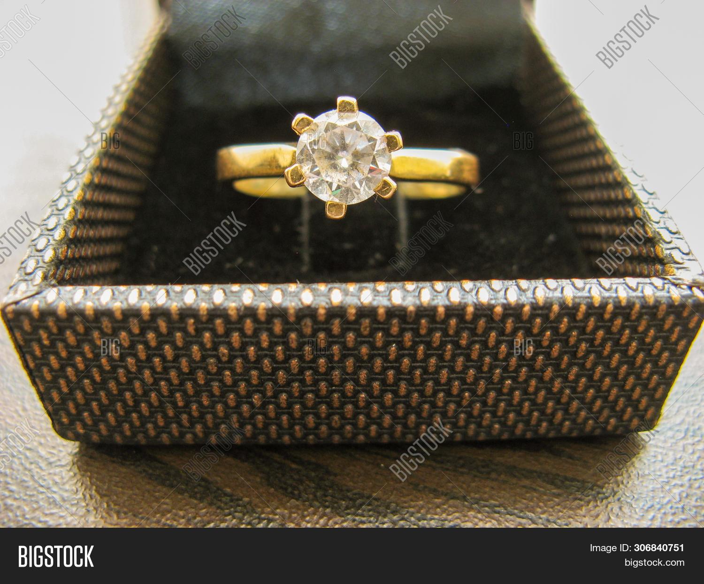 Gold Wedding Ring Box Image Photo Free Trial Bigstock