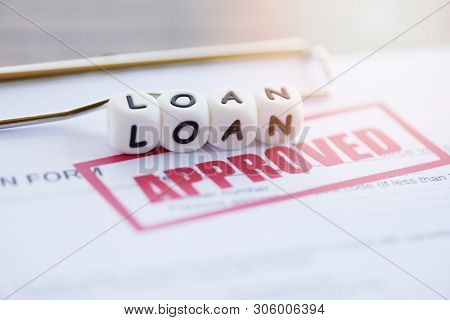 Loan Approval / Financial Loan Application Form For Lender And Borrower For Help Investment Bank Est