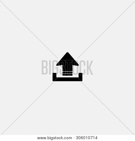 Upload Icon. Upload Icon Isolated On White Background From Miscellaneous Collection. Upload Icon Tre