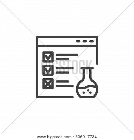 Website Functional Testing Line Icon. Linear Style Sign For Mobile Concept And Web Design. Browser W