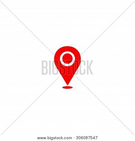 Location Pin Red Icon Vector On White Background. Map Point Icon, Navigasi Icon, Location Pin Icon M