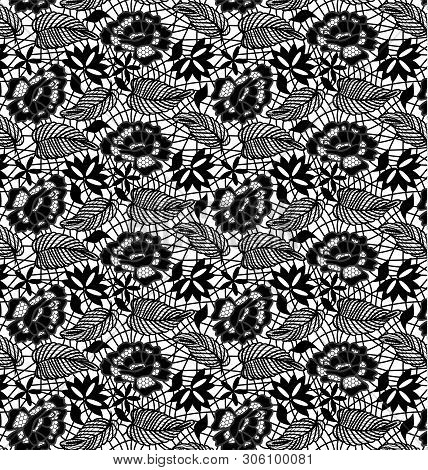 Seamless Lace Tile Pattern Swatch Fashion Vector Illustration