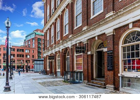 Boston, Massachusetts - September 11, 2018: Boston Is One Of The Oldest Cities In The States And Is
