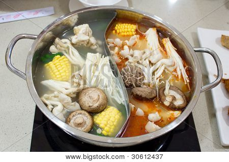 Two Style Hot Pot Steam Boat