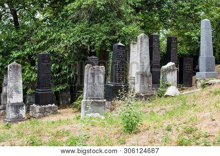 Beckov, Slovakia - August 03,2015;  Castle In Beckov - Slovakia. Jewish Cemetery Near Beckov Castle