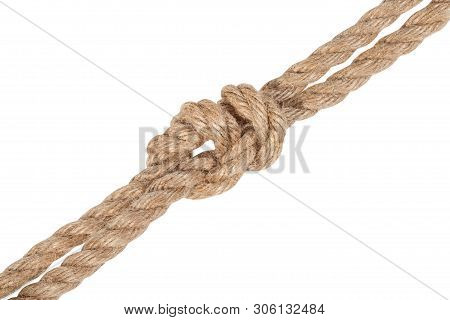 Another Side Of Surgeon's Knot Joining Two Ropes