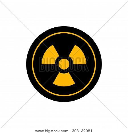 Flat Linear Design. Radiation Icon For Applications, Web Sites And Public Use. Radiation Symbol. Vec