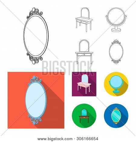 Vector Illustration Of Imagery And Decorative Sign. Collection Of Imagery And Silver Vector Icon For