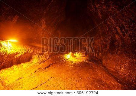 lava tube on Big island Hawaii, USA