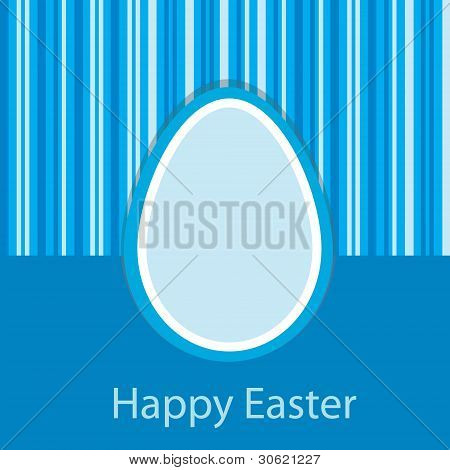 Blue Easter Card
