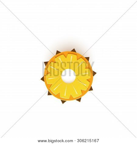 The Paper Is Sliced With Cut Pineapple Citrus, An Excellent Design For Any Purpose. Summer Juicy Pin