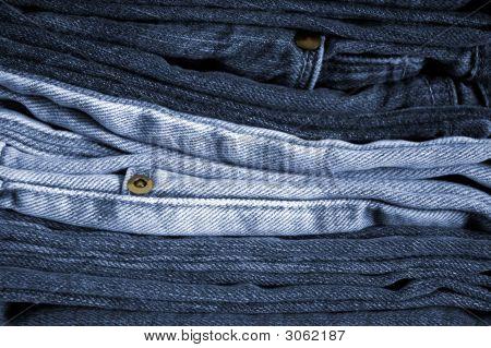 Folded Blue Jeans