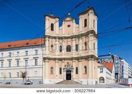 Bratislava, Slovakia. 04 August 2015. Trinity Church, Bratislava, Slovakia