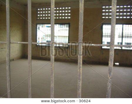 Prison Bars - Toul Sleng, Cambodia