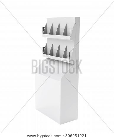 Product Shelf Display Mock-up. 3D rendering Trade, Mall, Rack, Exposition poster