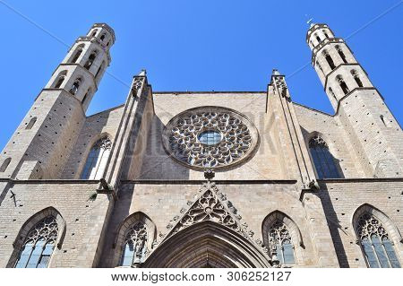 Barcelona, Spain. Basilica Of Santa Maria Del Mar