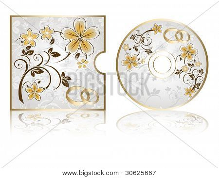 Wedding CD Labels on a white background