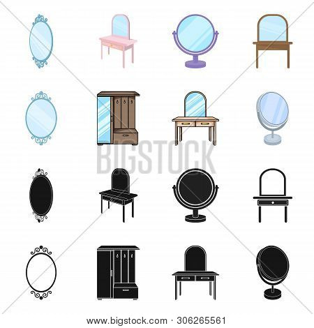 Isolated Object Of Imagery And Decorative Icon. Set Of Imagery And Silver Vector Icon For Stock.