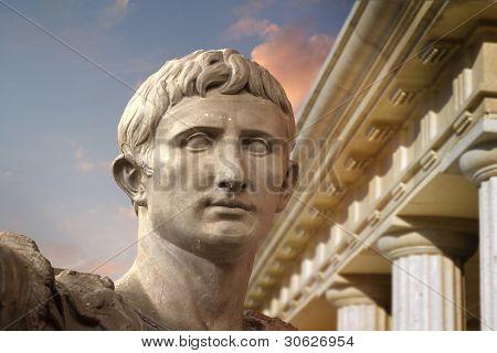 Statue of Julius Caesar Augustus in Rome, Italy  Ancient Art