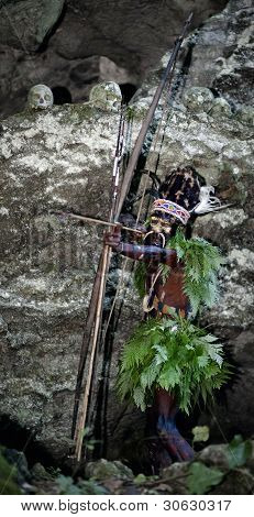 The Leader Of A Papuan Tribe Of Yafi