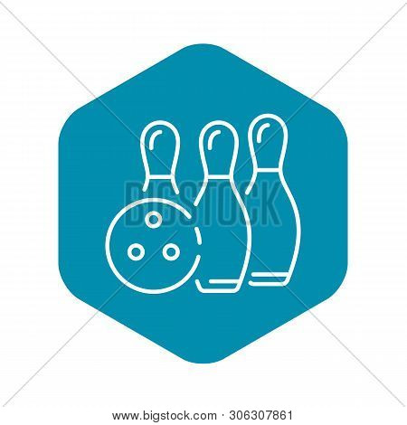 Bowling Victory Icon. Outline Bowling Victory Vector Icon For Web Design Isolated On White Backgroun