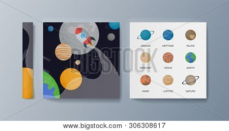 Set Of Brochures For Space Exploration And Gravity Research