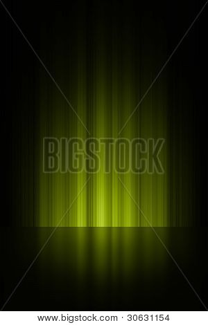 Lime green stage background