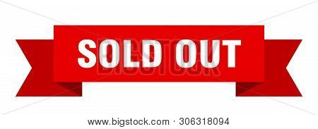 Sold Out Ribbon Sticker. Sold Out Sign. Sold Out Banner