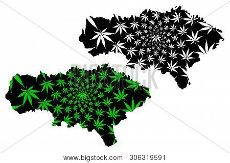 Saratov Oblast (russia, Subjects Of The Russian Federation, Oblasts Of Russia) Map Is Designed Canna