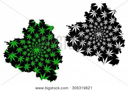 Tula Oblast (russia, Subjects Of The Russian Federation, Oblasts Of Russia) Map Is Designed Cannabis