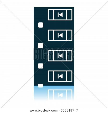 Diode Smd Component Tape Icon. Shadow Reflection Design. Vector Illustration.