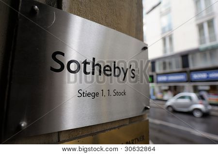 Sotheby's Logo On Wall