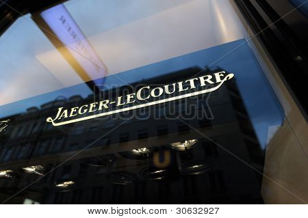 Sign Of The Jaeger-lecoultre Store In Vienna