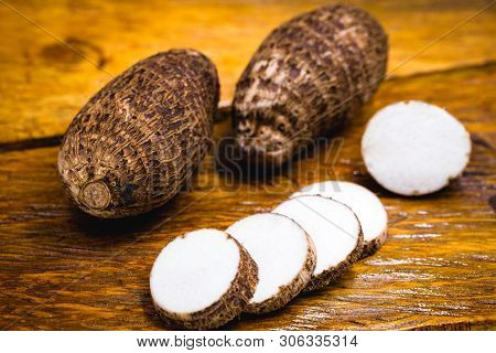 Brazilian Potato Known As Yam. In Some Places, It Is Common To Refer To The Following Species Alocas