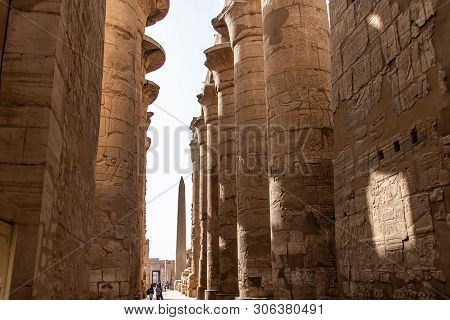 Luxor Egypt 23.05.2018 Anscient Temple Of Karnak - Archology Ruine Thebes Egypt Beside The Nile Rive