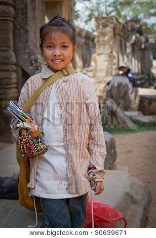 Child souvenier seller