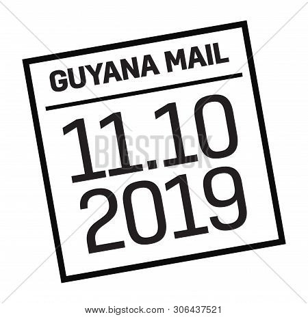 Georgetown, Guyana Mail Delivery Stamp Isolated On White Background. Postage Signs Series.