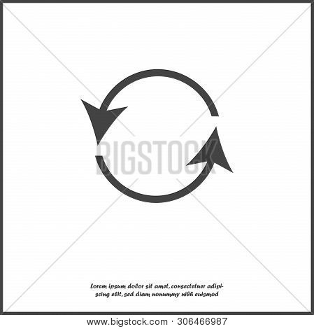 Icon Circulating. Reset Button, Reload Icon. Vector Circulating  Illustration On White Isolated Back