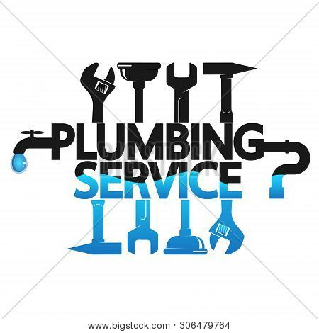 Repair Plumbing And Water Pipes With The Tool Symbol