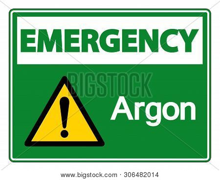 Emergency Argon Symbol Sign Isolate On White Background,vector Illustration