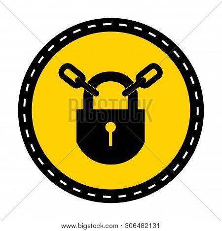 Ppe Icon.keep Locked Symbol Sign Isolate On White Background,vector Illustration