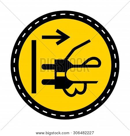 Ppe Icon.disconnect Mains Plug From Electrical Outlet Symbol Sign Isolate On White Background,vector