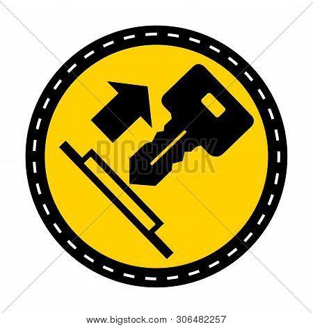 Pull Key Symbol Sign Isolate On White Background,vector Illustration