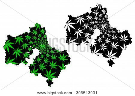 Moscow Oblast (russia, Subjects Of The Russian Federation, Oblasts Of Russia) Map Is Designed Cannab