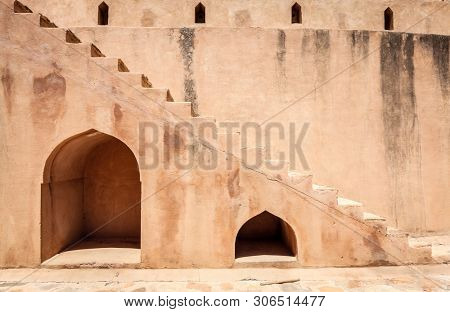 Wall fragment of Rustaq Fort in the city of Rustaq, Oman