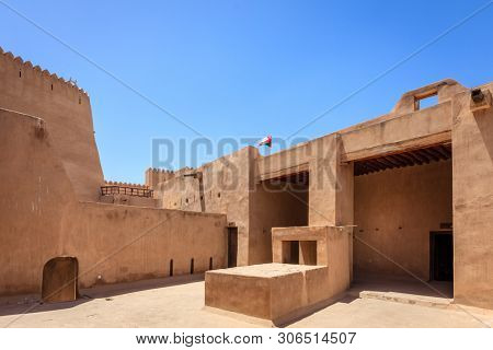 Inner courtyard in Rustaq Fort in Oman