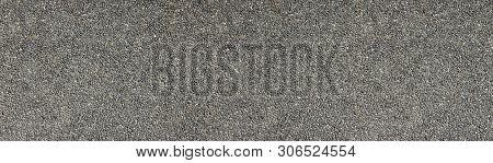 Natural Stone Wall Wide Texture. Pebble Dash Rough Surface Panorama. Pebbledash Panoramic Background