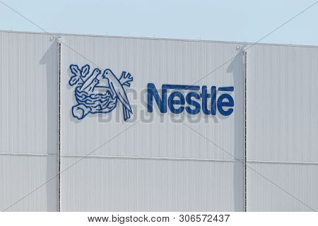 Anderson - Circa June 2019: Nestle Manufacturing Plant. Nestle Produces Coffee-mate, Nesquick, And B