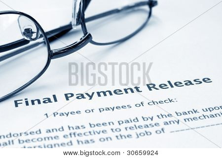 Final Payment Release