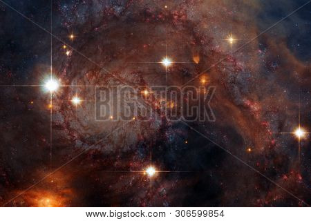 Science Fiction Space Wallpaper, Galaxies And Nebulas In Awesome Cosmic Image. Elements Of This Imag